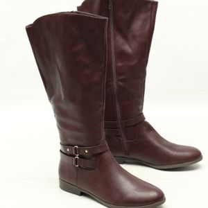 Style and Co burgundy wide calf boot wine 12